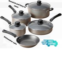 9 Piece Cookware Set Nonstick Pots & Pans Home Kitchen Cooking Non Stick