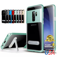 Clear Kickstand TPU PC Hybrid Shockproof Case Cover Fits Samsung Galaxy