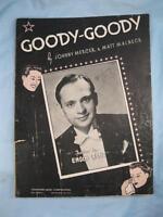 Goody Goody Sheet Music Vintage 1936 Enoch Light Johnny Mercer Matt Malneck (O)