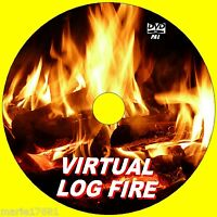 Virtual Crepitante Log Fuego Vídeo DVD 9 Caliente Scenes para LED & Plasma TV