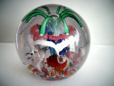 """Antique Bohemian Lily Magnum Art Glass Paperweight 4 Layer Large 4.25"""" Tall"""