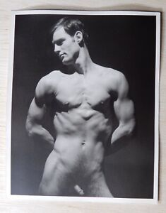 Vintage Male Nude, Physique Studio Photograph, Don Whitman, Original 4x5 Print
