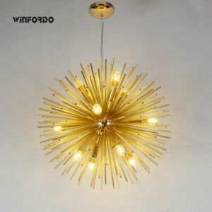Nordic LED Aluminum Dandelion Chandeliers Lighting Sputnik Pendant Lamp Ceiling