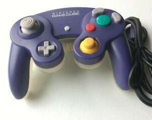 Nintendo Gamecube Controller - Indigo/Clear OEM   AUTHENTIC   TESTED