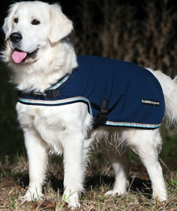 Horseware RAMBO Showerproof FLEECE Dog Rug Wicking Warm Coat Black/Navy XXS-XXXL