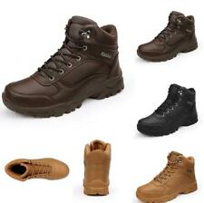 Winter Mens High Top Ankle Boots Shoes Outdoor Hiking Climbing Non-slip Leather