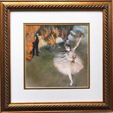 """Degas """"Dancer on the Stage"""" Framed Art Print Ballet Ballerina Dance Dancing"""