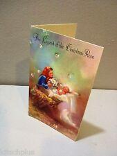 Vtg Card Rust Craft Legend of the Christmas Rose Manger Baby Jesus Christ Child