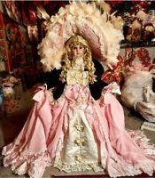 Pat Loveless 36 inch Antique Reproduction Jumeau Doll Pink Silk 168 of 2000