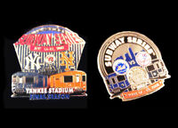 2008 Final Yankee Stadium Mets Shea Subway Series 2 Pin Set LE300 Legends Booth