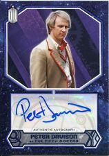 Doctor Who 2015 [Purple][##/25] Autograph Card Peter Davison - 5th Doctor