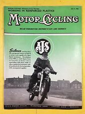 MOTOR CYCLING MAGAZINE - July 3, 1958 - Amateur Fibre Glass Mould Maker