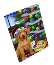 Christmas Chesapeake Bay Retriever Dog Tempered Cutting Board (Large) Db383