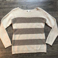 Coldwater Creek Women's Small 8 Beige Camel Sparkle Stripe Sweater Angora Wool