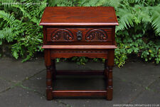 OLD CHARM JAYCEE TUDOR OAK COFFEE LAMP PHONE TEA HALL TABLE BOOK BEDSIDE STAND