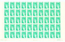 FRANCE  1/2 FEUILLE N° 1967a SABINE. bande à gauche. Coin daté . Cote 25€ +