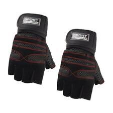 Unisex Non-slip Breathable Half Finger Gloves for Sports Fitness Training Black