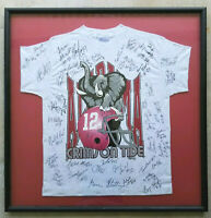 UNIVERSITY OF ALABAMA Crimson Tide 1994 Football Team Signed Shirt Custom Framed