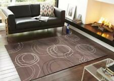 Beige Brown Floor Rug 330x240cm Large Modern Carpet Mat 1057 Free Delivery