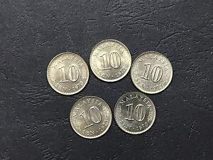 5pcs lot Malaysia 10 Sen 1973 parliament coins BU