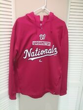 NEW Majestic Washington Nationals - Red Poly Sweatshirt with Hood; Large (L)