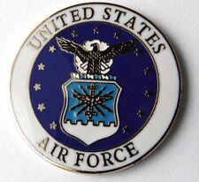 US AIR FORCE USAF REGULAR EMBLEM LAPEL PIN BADGE 1 INCH