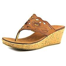 Skechers Beverlee Cut It Out Women's Brown Wedge Sandals Sz 11 M **New**