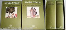 STORIA D'ITALIA DALLA CADUTA DELL'IMPERO ROMANO AL SECOLO XVIII EINAUDI 1974