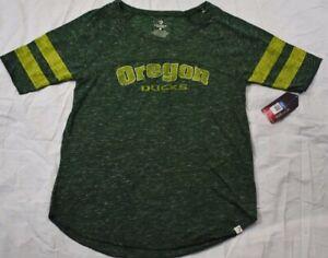 Colosseum Womens Oregon Ducks Short Sleeve Tee Green Large New