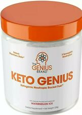Genius Brand Keto Genius Powder Watermelon Ice BHB Salts Alpha-GPC EXP 08/2021