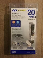 Square D 20 Amp Ground Fault QO Single-Pole Dual Function Breaker CAFCI and GFCI