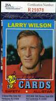 Larry Wilson Jsa Coa Autographed 1971 Topps Authentic Hand Signed
