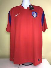 Men's Nike South Korea Soccer Team Red DriFit Jersey Sz 2Xl Xxl