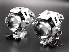 2 X LED U5 Spot Fog Light For Harley Honda Kawasaki Suzuki Yamaha BMW Trunk Car