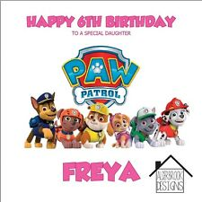 Personalised Paw Patrol card,1st 2nd 3rd 4th birthday. Daughter/Granddaughter