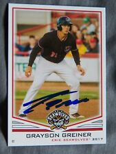 Detroit Tigers Grayson Greiner Signed 2017 Erie Seawolves Auto Card