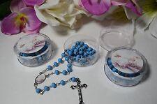 1 Baptism Rosary Blue Scented Rosario de nino Azul de Bautiso Boy Wood Rosary