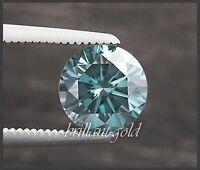 Diamant im Brillant Schliff 0,21 ct mit Zertifikat, Blau, VVS, natürlich, Neu