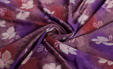 Vintage Sari Fabric Pure Silk Women Dress Purple Indian Craft Saree Dress 5 Yard