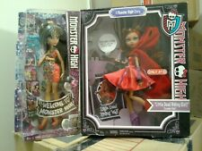 2 Monster High LITTLE DEAD RIDING WOLF CLAWDEEN & WELCOME TO MONSTER HIGH CLEO