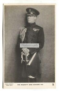 King Edward VIII in military uniform - 1930's Tuck postcard No. 3924