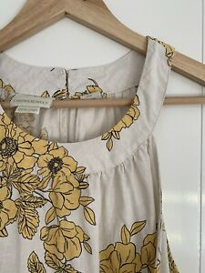 Cynthia Rowley Cream Linen Dress M