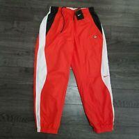 NIKE NikeLab TN Tuned Air Track Pants Mens MEDIUM Orange white Joggers Woven