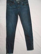 PAIGE DENIM jrs/women's dark wash zipper cuff jeggings skinny jeans size 29