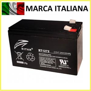 Batteria 12v 7ah Piombo Ermetica agm ups Elettronica 7a 7,2a come FIAMM FG20721