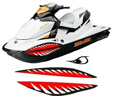 SEA DOO YAMAHA KAWASAKI honda polaris JET SKI 2 3 PWC teeth MOUTH SHARK DECAL 4
