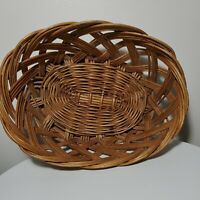 Basket Wicker Rattan Woven Vintage Wall Décor Boho Handmade Easter Basket 11X8