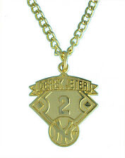 Derek Jeter NY Yankees #2 Golden Diamond MLB Logo Necklace