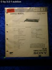 Sony Service Manual CDX R7 CD Player (#3477)