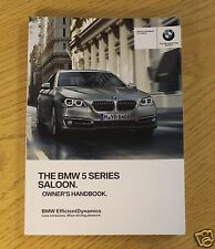 GENUINE BMW 5 SERIES F10 2013-2016 SALOON GENUINE HANDBOOK OWNERS MANUAL